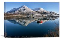 Loch Scavaig winter reflections, Canvas Print