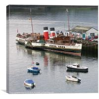 The Waverley at Portree pier, Canvas Print