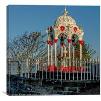 Newport on Tay drinking water fountain. #2, Canvas Print