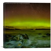Aurora Borealis from Staffin beach #4, Canvas Print