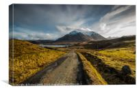 The Red Cuillin Hill, 'Glamaig', seen from above P, Canvas Print