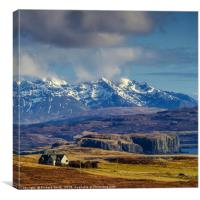 The west side of the Cuillin Hills from Orbost., Canvas Print