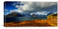 A view across Loch Scavaig to the Cuillin Hills, Canvas Print