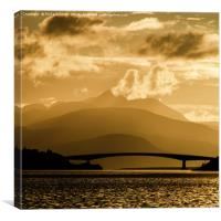 The Skye Bridge in the evening, Canvas Print
