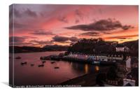 Portree late afternoon at sunset, Canvas Print