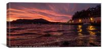 Sunrise from the shore below Beaumont crescent, Canvas Print