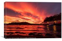 Sunrise from the shore below Beaumont crescent #2, Canvas Print