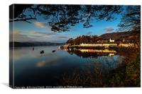 Portree quay lit by the first rays of sunlight, Canvas Print
