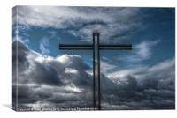Cross and Cloud, Canvas Print