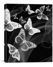 black white butterfly phone case, Canvas Print