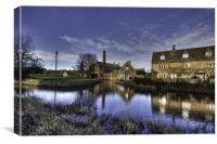Lower Slaughter Mill, Canvas Print