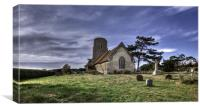 A windswept Churchyard, Canvas Print