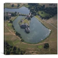 Leeds Castle From The Air, Canvas Print