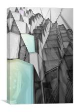Harpa Building Abstract, Canvas Print