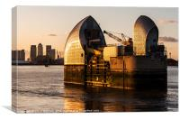 Thames Barrier, Canvas Print