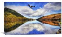 Spitfire Lake Flight , Canvas Print
