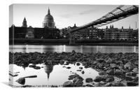 Reflections of St Pauls Cathedral, Canvas Print
