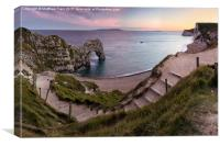 Path to Durdle Door, Canvas Print