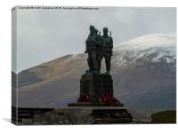 Commando Memorial., Canvas Print
