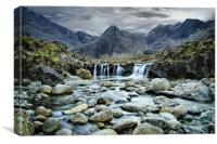 Fairy pools on Skye, Canvas Print