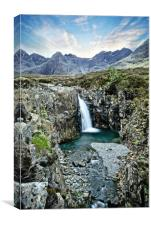 Fairy pools on Skye in Portrait , Canvas Print