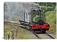Bygone age of steam, Canvas Print