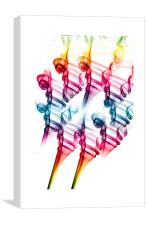 Olympic flames 2, Canvas Print