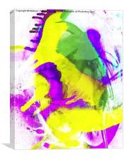 Grunge Abstract Watercolour, Canvas Print