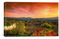Sao Bras de Alportel Sunset, Canvas Print