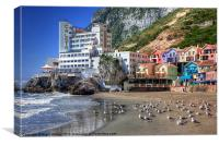 Caleta Hotel At Catalan Bay Gibraltar, Canvas Print