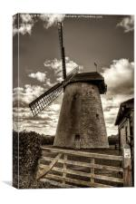 Bembridge Windmill, Canvas Print