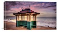 Shanklin Shelter, Canvas Print