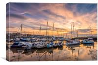 Ryde Harbour Sunset Isle Of Wight, Canvas Print