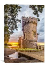 Appley Tower Sunset Ryde Isle Of Wight, Canvas Print