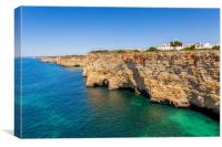 Sandstone Cliffs Of The Western Algarve, Canvas Print