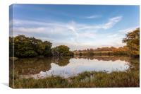 The Old Mill Pond Wootton Bridge Isle Of Wight, Canvas Print