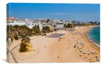 Albufeira Beach Algarve Portugal, Canvas Print