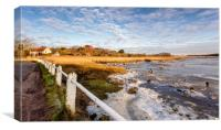 Frozen River Yar Freshwater Isle Of Wight, Canvas Print