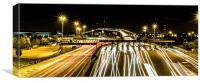 Busy light trails, Canvas Print