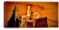Liverpool Landmarks, Canvas Print