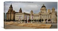 The Three Graces Liverpool, Canvas Print