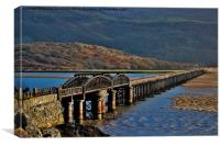Barmouth Bridge, Canvas Print