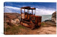 Rust Tractor For Hire, Canvas Print
