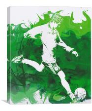 Abstract Football player, Canvas Print