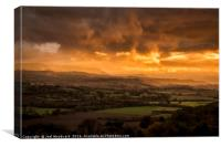 The Wye Valley, Canvas Print