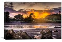 Saundersfoot Sunset, Canvas Print