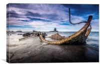 The Wreck at Saltwick Bay, Canvas Print