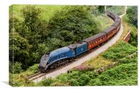 60007, Sir Nigel Gresley on the North Yorkshire Mo, Canvas Print
