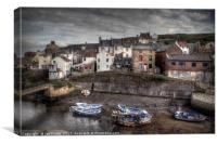 The Moorings  at Staithes North Yokshire , Canvas Print