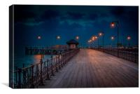 Dusk at the end of the Pier, Canvas Print